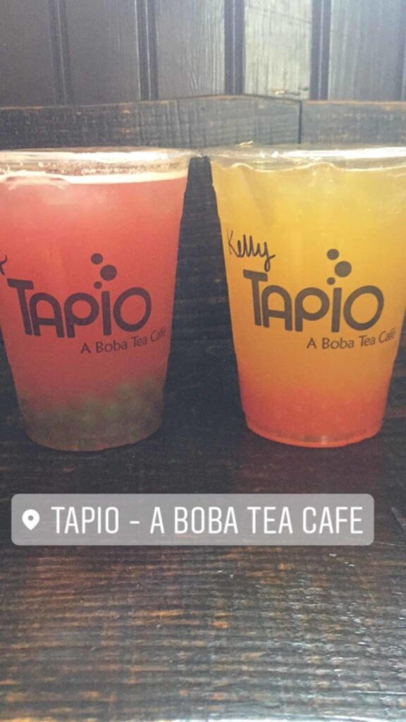 Boba/bubble tea from Tapio in Charleston, South Carolina