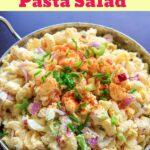 Deviled egg pasta salad pin