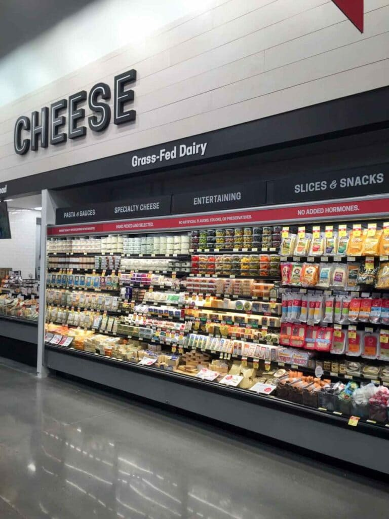 The cheese and dairy section at Earth Fare Concord