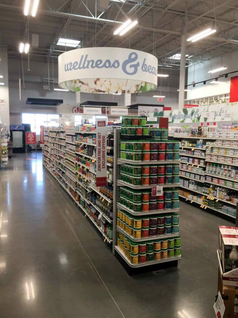 The wellness section at Earth Fare Concord