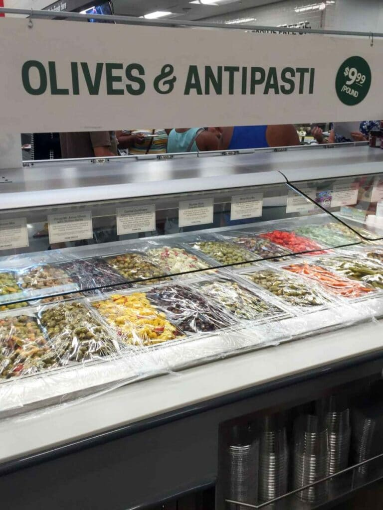 The olives section at Earth Fare Concord