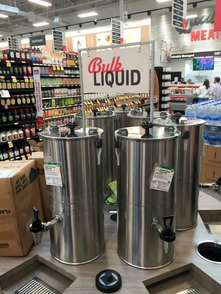 The Bulk Liquid section at Earth Fare Concord