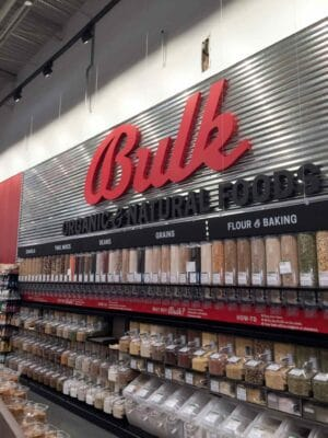 The Bulk Foods section at Earth Fare Concord