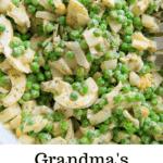 Grandma's pea salad