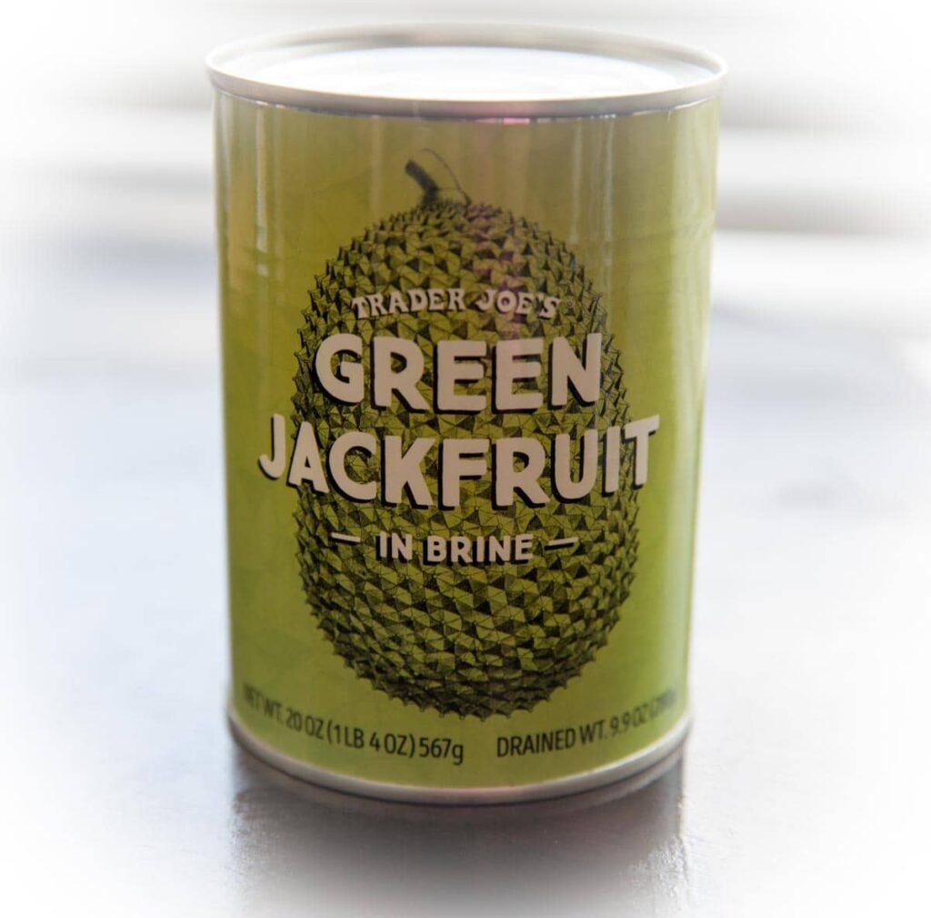 Pulled BBQ Jackfruit - green jackfruit in brine can