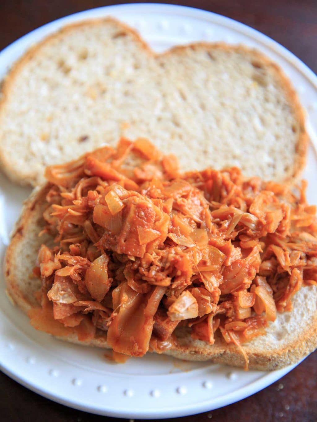 Pulled BBQ Jackfruit sandwich