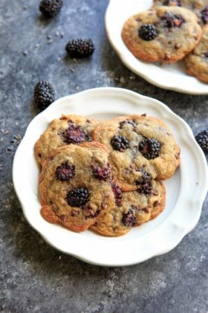 Blackberry Lavender Chocolate Chip Cookies