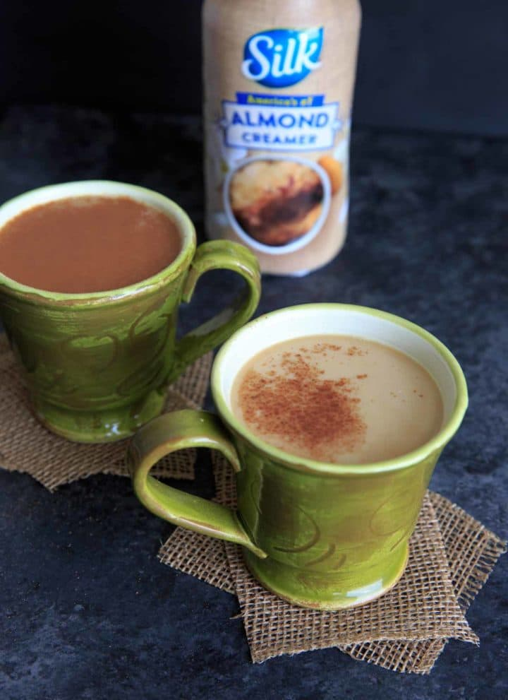 Cacao Coffee with Silk Almond Milk Creamer