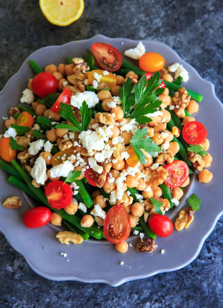 Green Bean Chickpea Salad