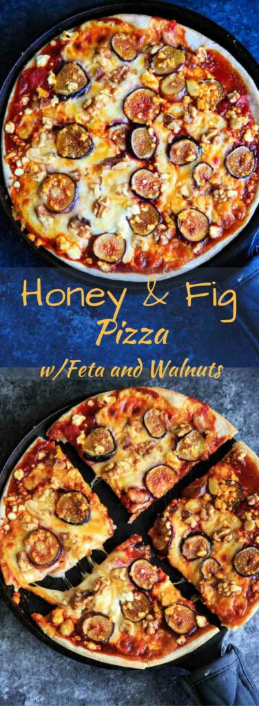 Honey and Fig Pizza with feta cheese and walnuts is a great way to mix up your next pizza night!