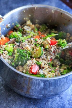 "Veggie Loaded Quinoa Fried ""Rice"""