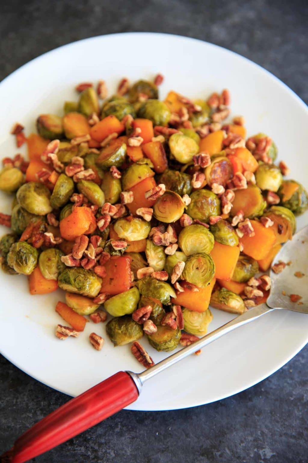 Maple Roasted Brussels Sprouts and Butternut Squash ...