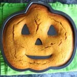 Pumpkin Cake with Pumpkin Cream Cheese Icing - after baking