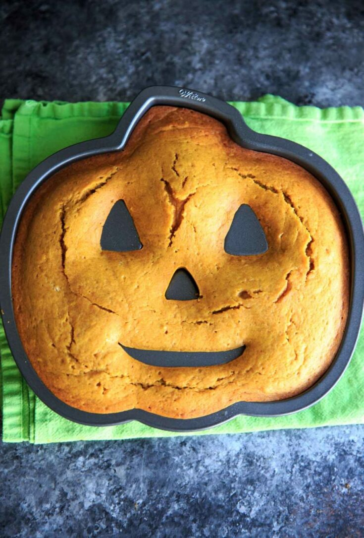 Pumpkin Cake with Pumpkin Cream Cheese Icing - after baking