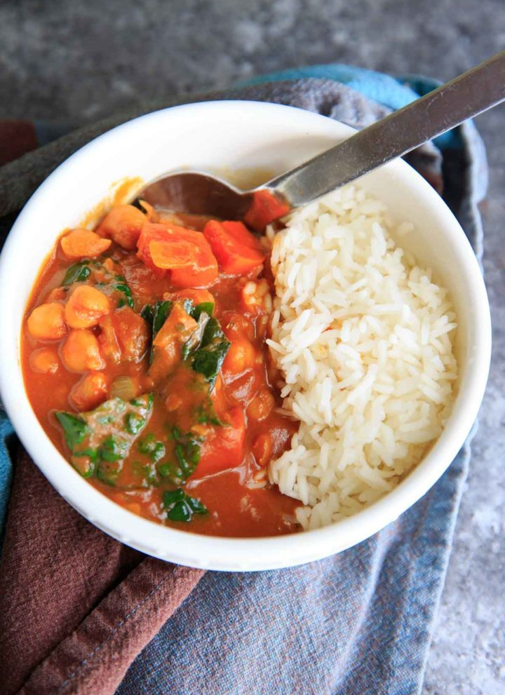 Pumpkin Chickpea Curry with Kale