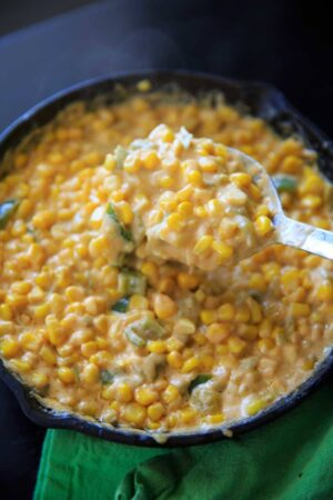 Creamy Spicy Hot Corn Dip makes a great appetizer for parties or game day. Addicting and delicious!