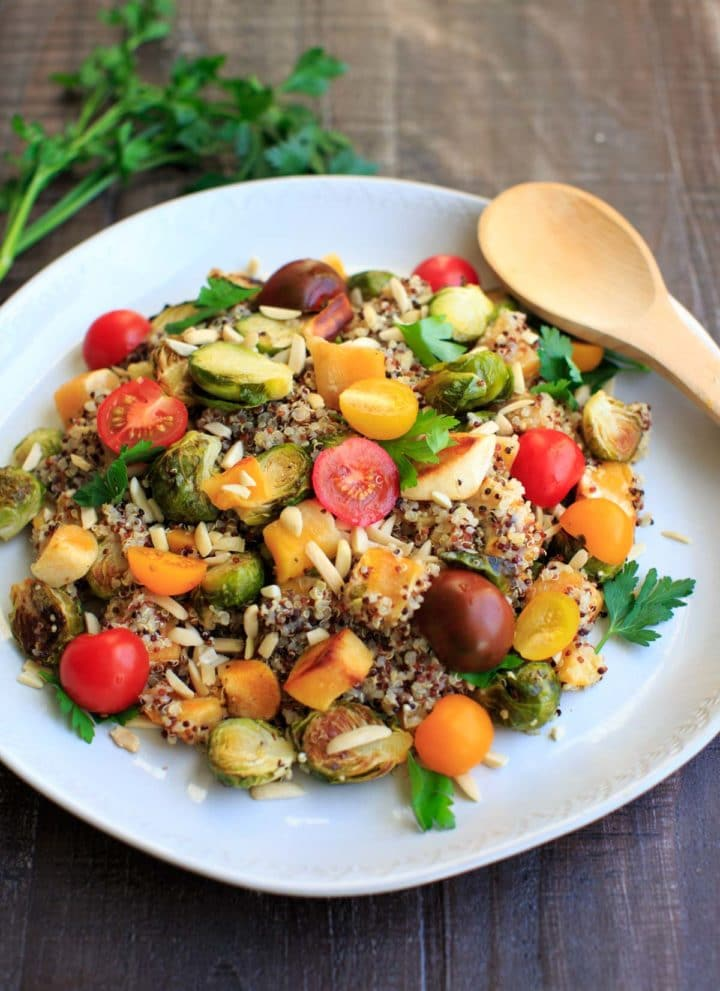 Fall Quinoa Salad with Squash and Brussels Sprouts