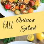 Fall Quinoa Salad with Brussels Sprouts, Butternut Squash, Tomatoes, Lemon and Parsley. A warm, delicious meal that is vegan and gluten-free.