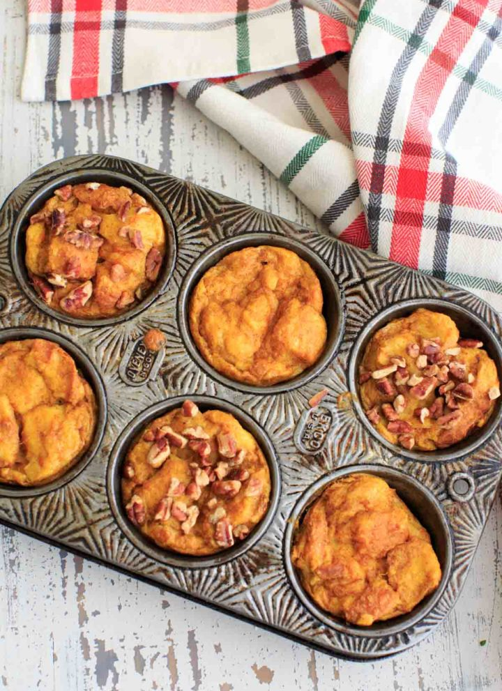 Pumpkin French Toast Muffins