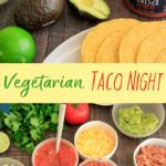 Host a make-your-own vegetarian taco night with all your favorites! Mix it up with different toppings, beans, veggies and shells. And of course - salsa.