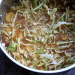 non-starchy veggies with cabbage in stove pot - detox cabbage soup