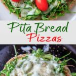 Quick and easy pita pizza recipe that you can make in the oven, microwave, or even on the grill! Fast lunch or dinner option that is completely customizable and faster than delivery.