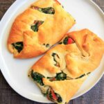 Spinach Ricotta Crescent Wrap cut in half