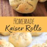 Make your own homemade Kaiser Rolls! A crusty roll perfect for overstuffed sandwiches or dipping into soup or butter. Includes multiple ways to shape the rolls to achieve the star/crown design.
