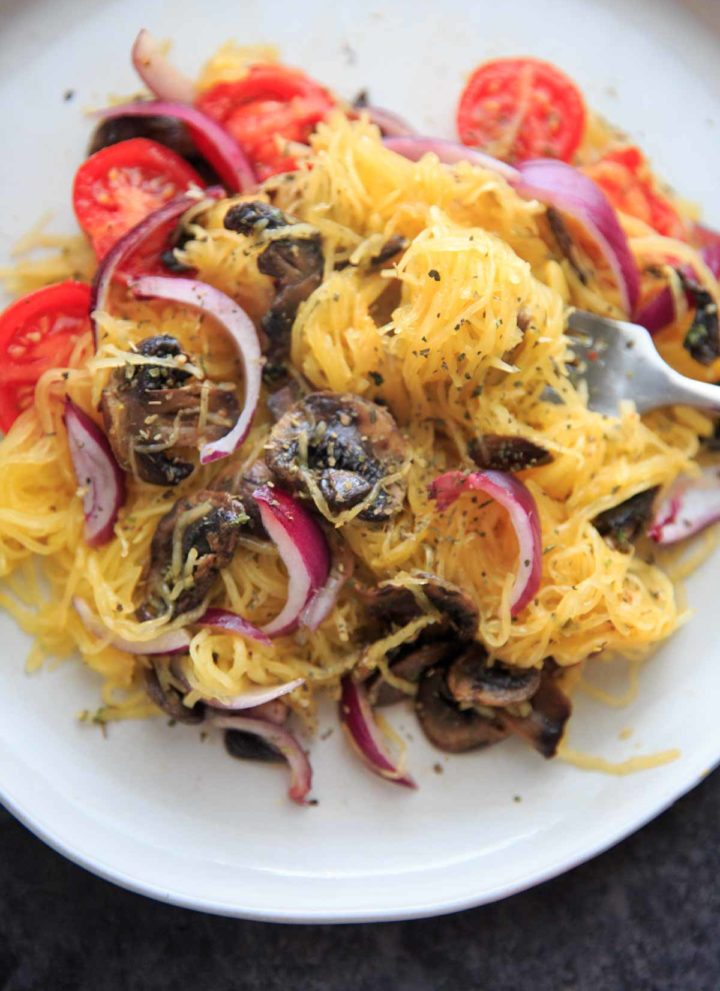 Spaghetti Squash with Mushrooms