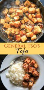 General Tso's Tofu recipe from the Chloe Flavor Cookbook - serve with rice or quinoa, top with sesame seeds and you have yourself a delicious vegan, gluten-free meal!