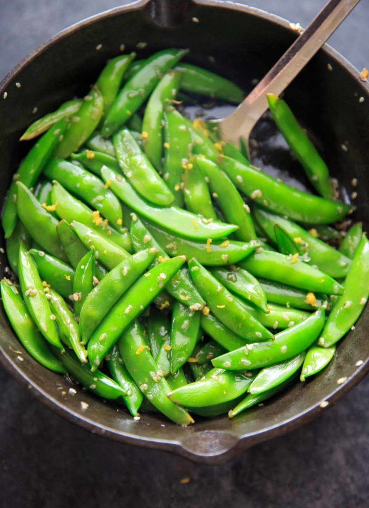 Lemon Sesame Sugar Snap Peas