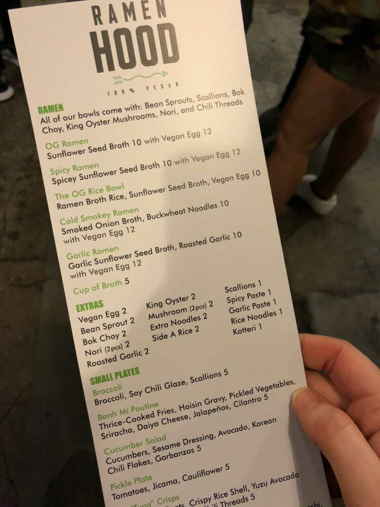 Ramen Hood Downtown LA Menu
