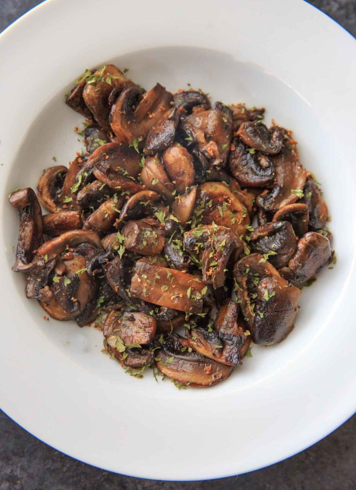 Caramelized Chili White Button Mushrooms