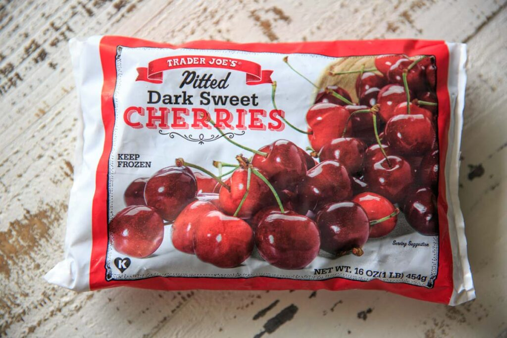 1 lb. bag of pitted dark sweet cherries