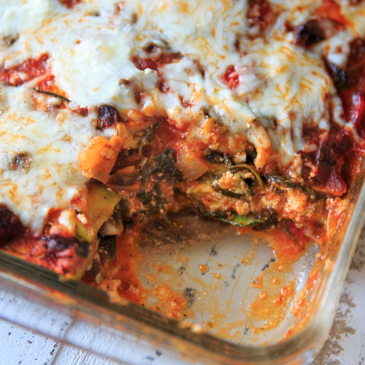 Recipe for zucchini noodle lasagna