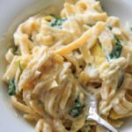 Spinach Artichoke Pasta - a one pot meal that is your favorite dip in dinner form!