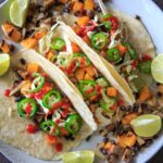 Sheet Pan Butternut Squash and Mushroom Tacos