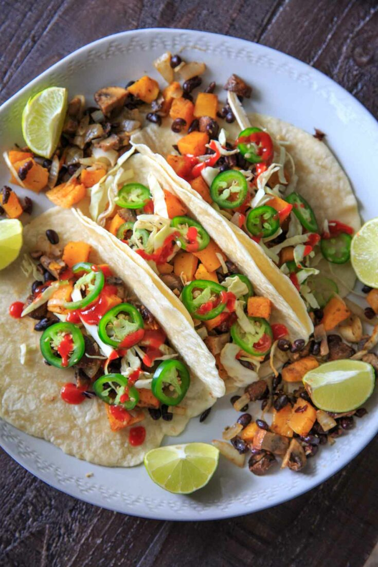 Sheet Pan Butternut Squash and Mushroom Tacos