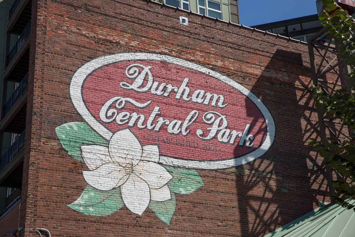 Durham Central Park sign