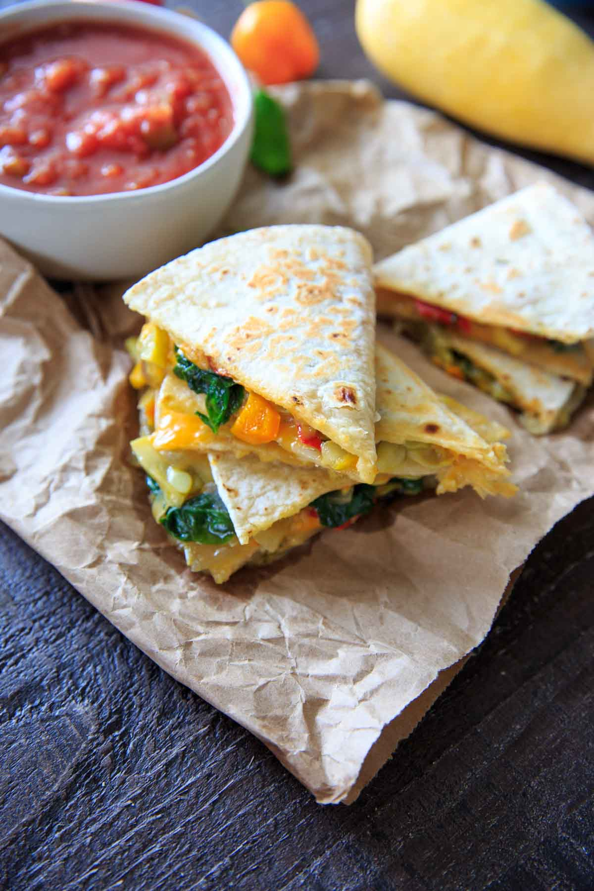 Farmers Market Vegetable Quesadillas