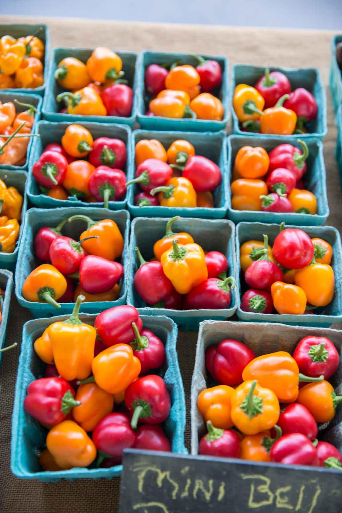 Durham Farmers Market bell peppers