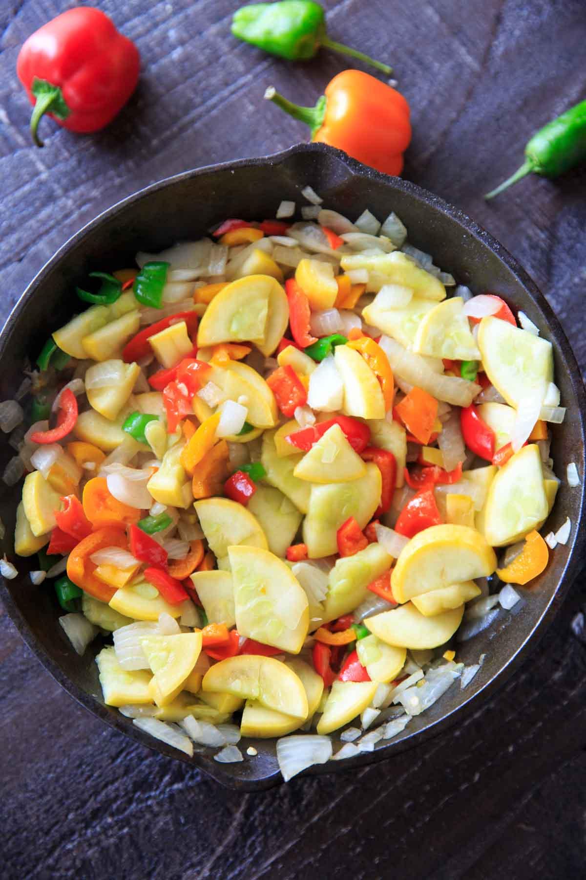 sauteed produce