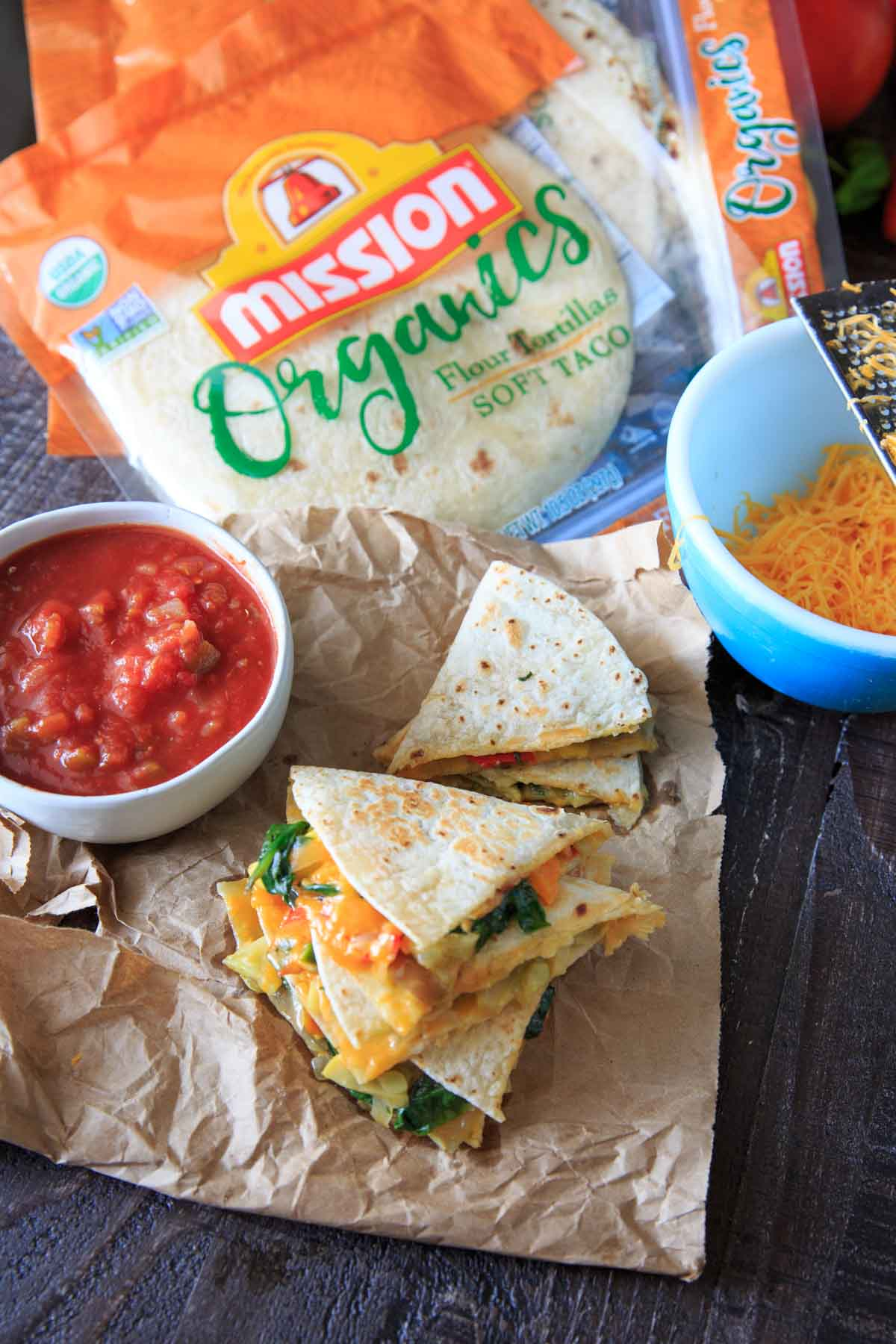 Garden Vegetables Quesadillas