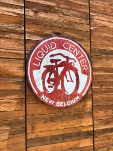 liquid center New Belgium brewery Asheville nc sign