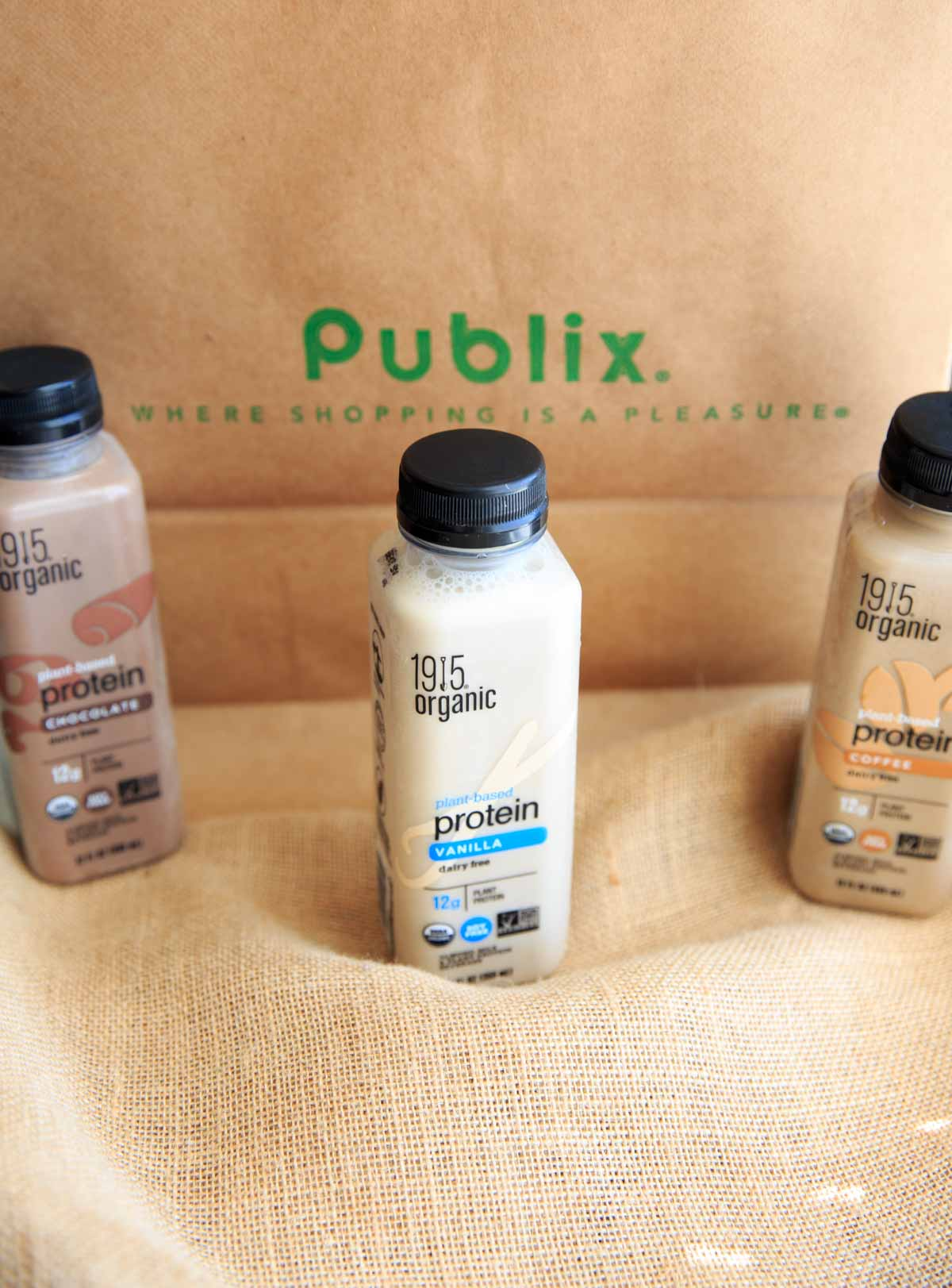 1915 Organic Protein Beverages - on Publix bag