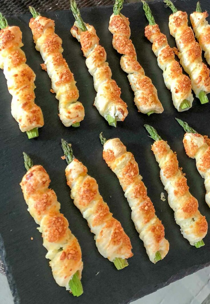 Asparagus Puff Pastry Cigars make a cute and delicious finger-food appetizer for your next party or game night!