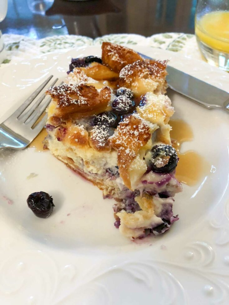 Overnight Blueberry Cheesecake French Toast