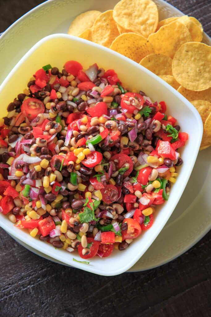 Cowboy (Texas) Caviar with tortilla chips