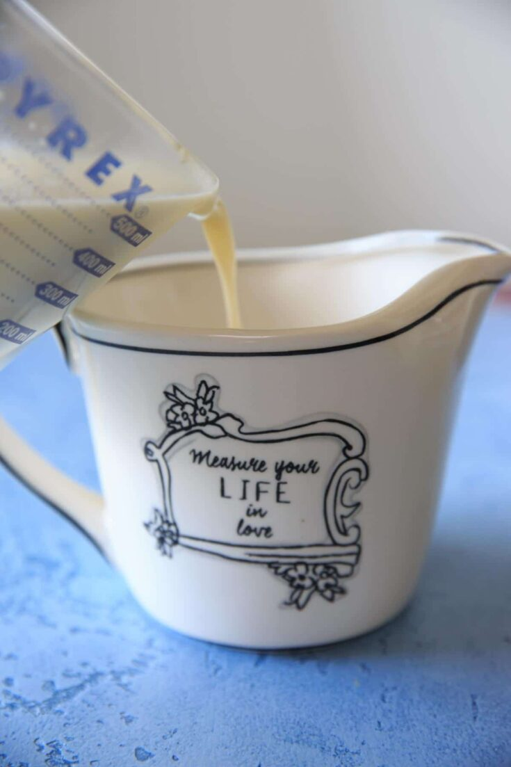 Homemade sweetened condensed milk - easy to make at home for baking or ice cream recipes, only 2 ingredients required!