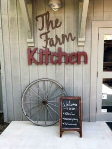 The Farm Kitchen sign